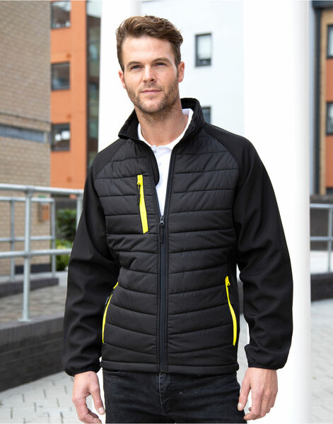 Photo of R237X Result Black Compass Softshell Jacket
