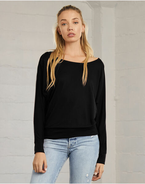 Photo of BE8850 Flowy Off Shoulder Long Sleeve T-Shirt