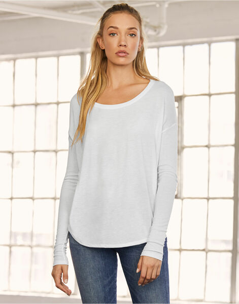 Photo of BE8852 Bella Long Sleeve Flowy 2x1 Tee
