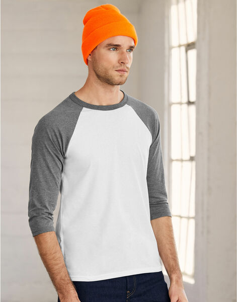 Photo of CA3200 Canvas 3/4 Sleeve Baseball T-Shirt