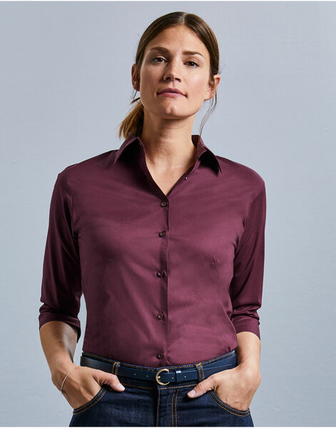 Photo of 946F Ladies' 3/4 Sleeve Easy Care Fitted Shirt