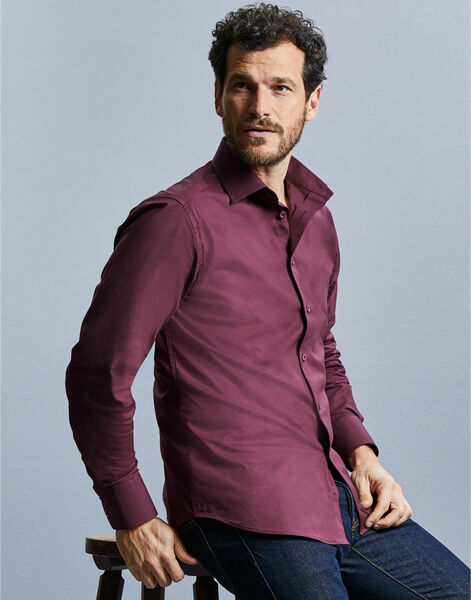 Photo of 946M Men's Long Sleeve Easy Care Fitted Shirt