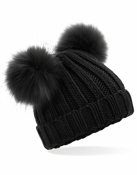 Photo of B414A Beechfield Infant Double Pom Pom Beanie