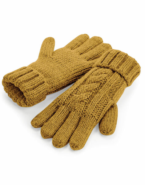 Photo of B497 Beechfield Cable Knit Melange Gloves