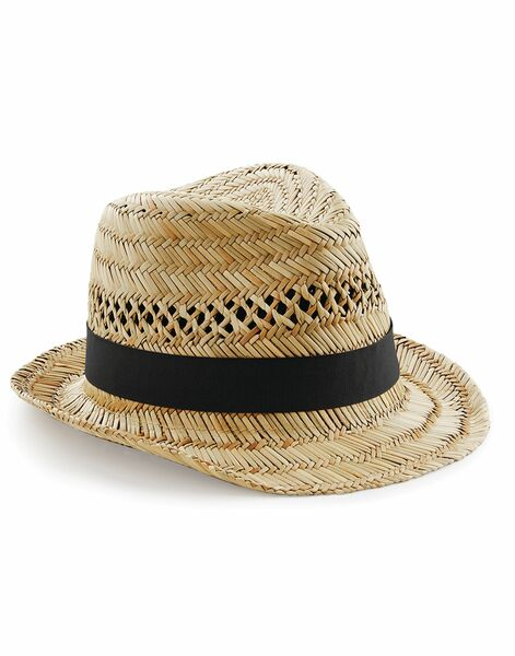 Photo of B730 Beechfield Straw Summer Trilby