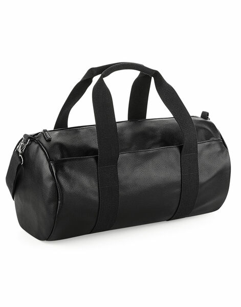 Photo of BG258 Bagbase Faux Leather Barrel Bag