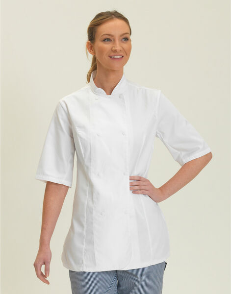 Photo of DD33S Dennys Ladies S/Sleeve Chefs Jacket