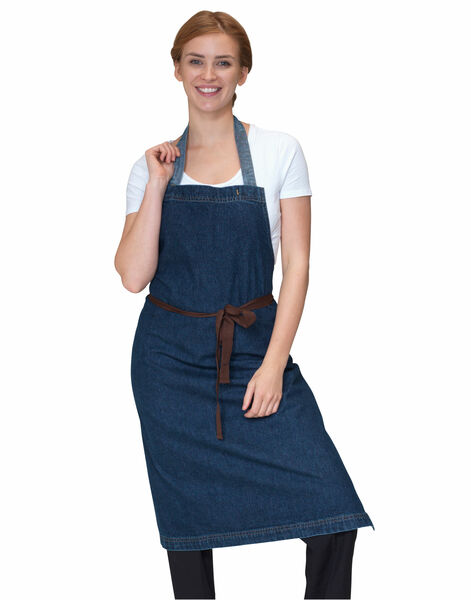 Photo of DP101B1 Dennys Washed Denim Bib Apron