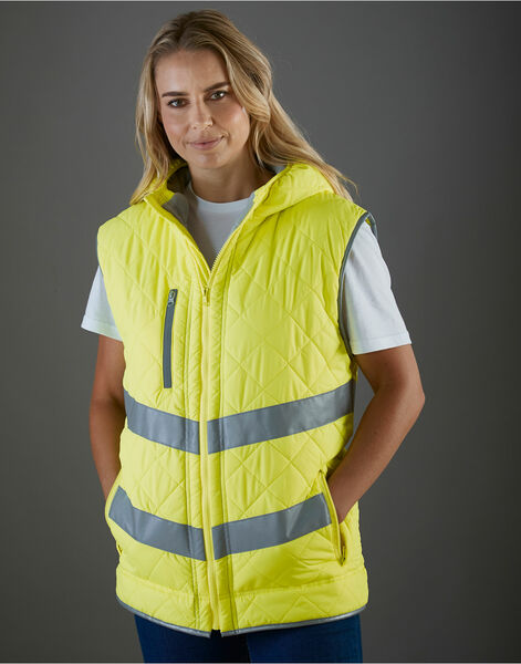 Photo of HV007 Yoko Hi Vis Kensington Hooded Gilet