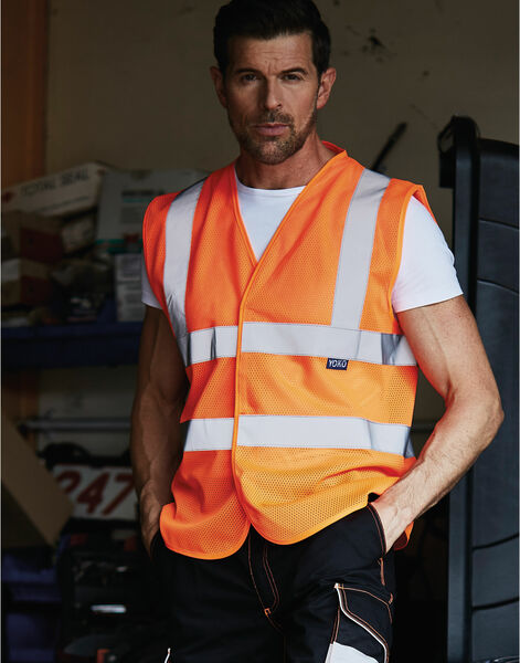 Photo of HVW120 Yoko Hi Vis Open Mesh Vest