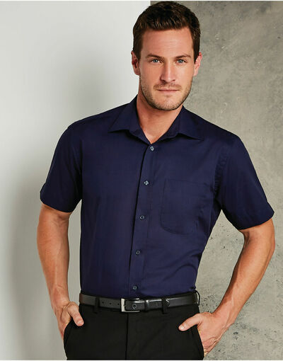 Photo of KK102 Men's Short Sleeve Business Shirt