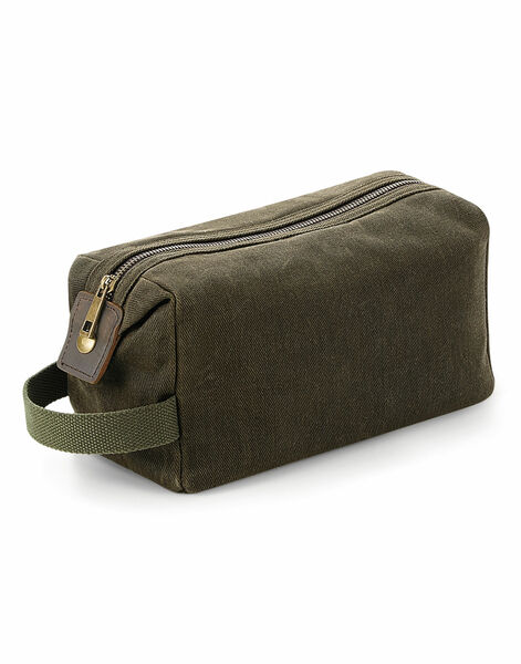 Photo of QD651 Quadra Heritage Waxed Canvas Wash Bag