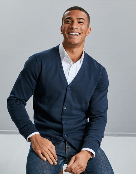 Photo of R715M Russell Collection Mens V-Neck Cardigan