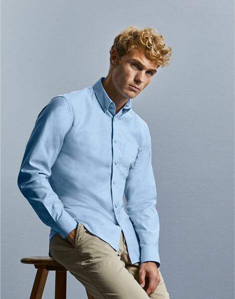 Photo of R928M Russell Collection L/S Oxford Shirt