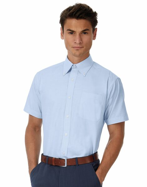 Photo of SMO02 Men's Oxford Short Sleeve Shirt