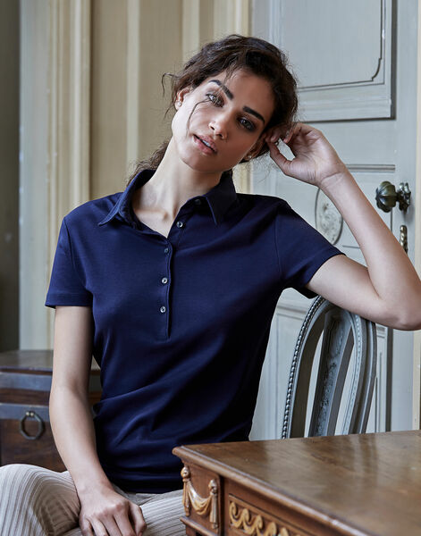 Photo of TJ1441 Tee Jays Ladies Pima Cotton Polo
