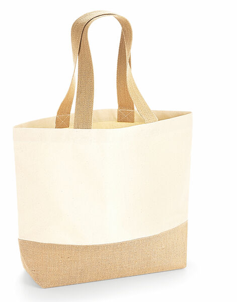 Photo of W451 Westford Mill Jute Base Canvas Tote
