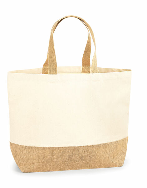 Photo of W452 Westford Mill Jute Base Canvas Tote XL
