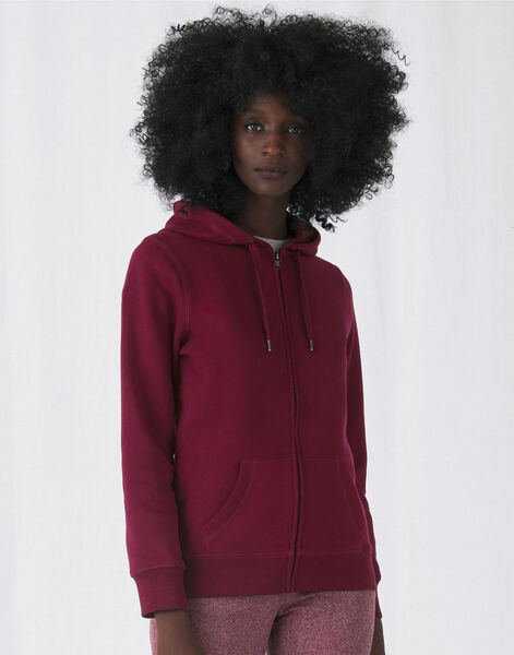 Photo of WW03Q B&C Womens Queen Zipped Hooded Sweat