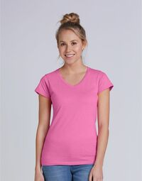 photo of Ladies' Soft Style V-Neck T-Shirt - 64V00L