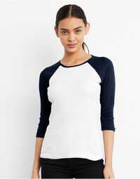 photo of Bella Ladies 3/4 Sleeve Contrast Te... - BE2000