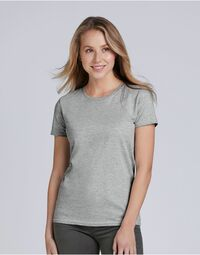 photo of Gildan Ladies Premium Cotton RS T-S... - 4100L