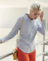 photo of Lady-Fit Long Sleeve Oxford Shirt - 65002
