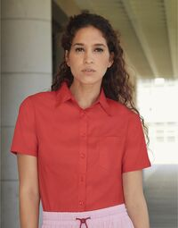 photo of Lady-Fit Short Sleeve Poplin Shirt - 65014