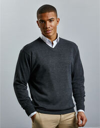 photo of V-Neck Knitted Pullover - 710M