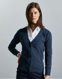 photo of Ladies' V-neck Knitted Cardigan - 715F