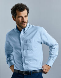 photo of Men's Long Sleeve Easy Care Oxford ... - 932M