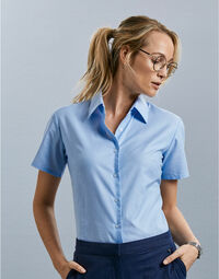 photo of Ladies' Short Sleeve Easy Care Oxfo... - 933F