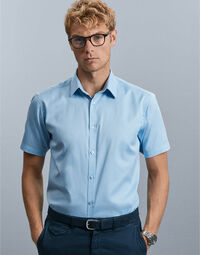 photo of Russell Collection Mens S/S H'Bone ... - 963M