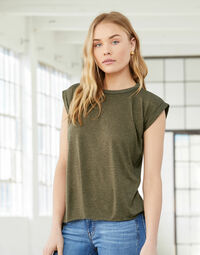 photo of Bella Womens Flowy Muscle Tee - BE8804