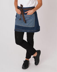 photo of Dennys Washed Denim Contrast Waist ... - DP103B1
