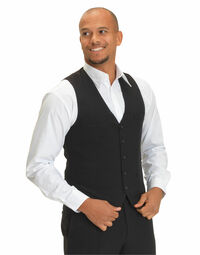 photo of Dennys Mens Self Back Waistcoat - DS07