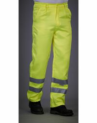 photo of Hi-Vis Polycotton Work Trouser (Reg... - HV015T-3MR