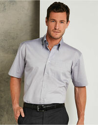 photo of Men's Short Sleeve Corporate Oxford... - KK109