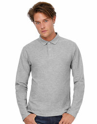 photo of B&C ID.001 Mens Long Sleeve Polo - PUI12