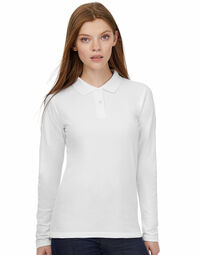 photo of B&C ID.001 Womens Long Sleeve Polo - PWI13