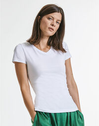 photo of Russell Ladies Pure Organic V-Neck ... - R103F