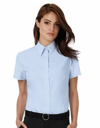 photo of Ladies' Oxford Short Sleeve Shirt - SWO04