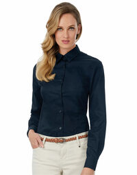 photo of Ladies' Sharp Twill Long Sleeve Shi... - SWT83